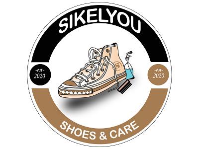 logo shoes & care ilustrator art design