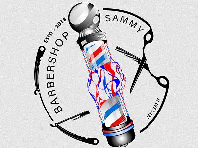 logo-barbershop ilustrator logo design barbershop logo