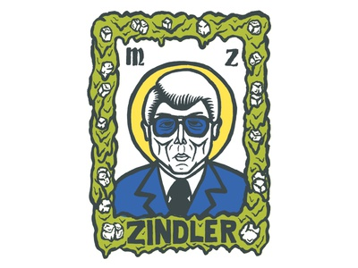 Saint Marvin - Color slime newscaster news marvin zindler saints saint illustrated people texas houston portrait illustration