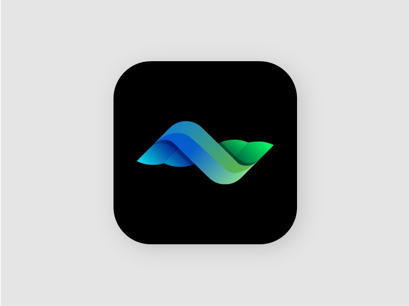 Abstract bird abstract bird colorful wings wave logo