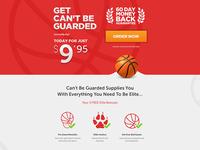 Basketball Training Program Landing Page