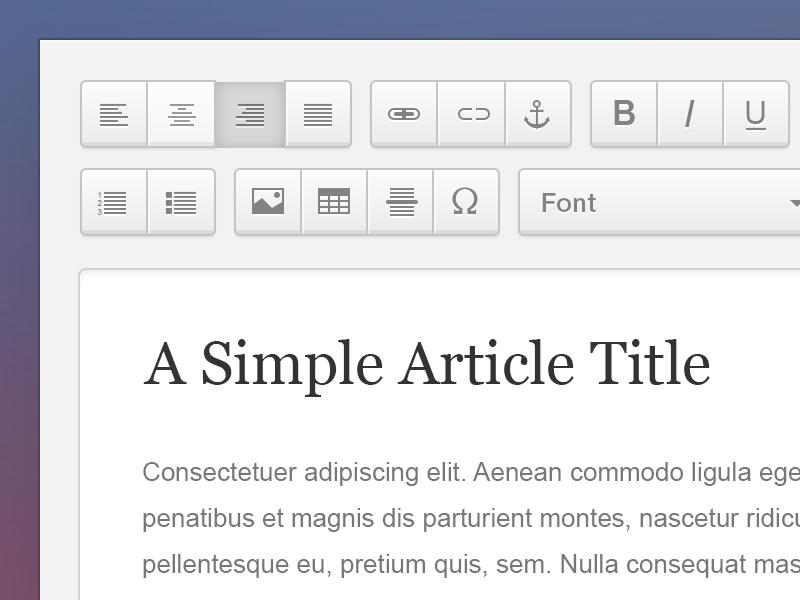 WYSIWYG Editor [FREEBIE] design wysiwyg editor web design user interface ui free