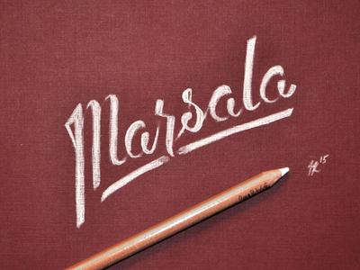 Marsala   hand lettering
