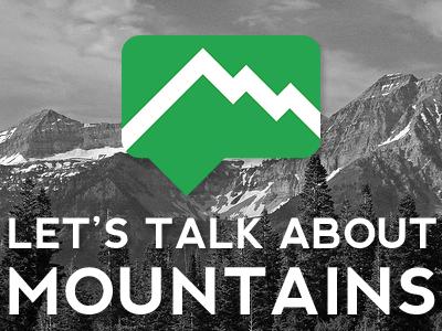 Let's Talk mountain rock talk bw