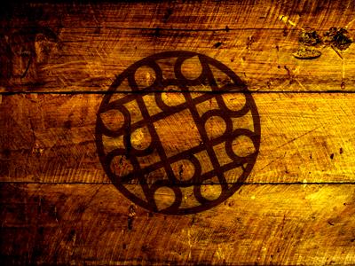 Celtic celtic wood logo circle brown