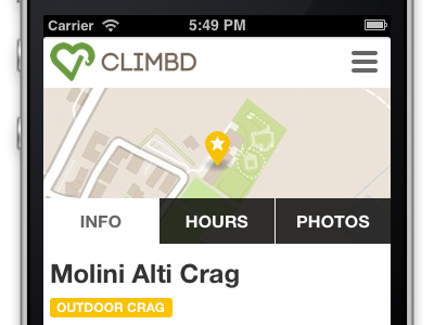 Climbd climb green map mountain white flat