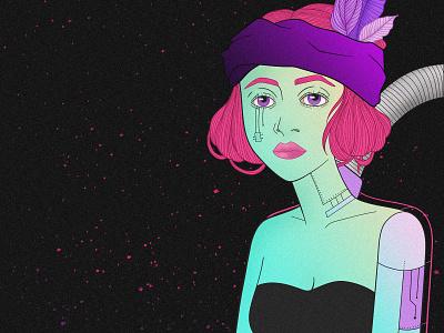 Motherboard linesart fantasyart finalspace fantasy philosophy illustration design