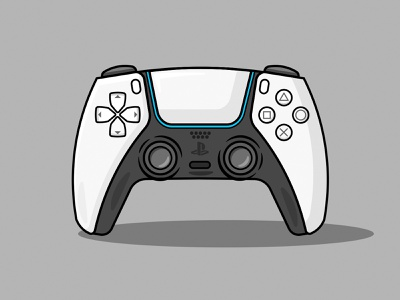 PS5 Dual Sense Vector vector minimal illustration flat design