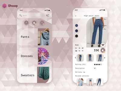 Shopping app idea design patterns illustration inspiration ux online shopping online store clothes shop clothes brown pastel colors vector shopping shopping app shop