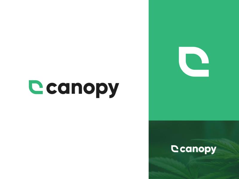 Canopy Logo leaf logo c c logo canopy brand dispensary cannabis logo cannabis marijuana logo logo marijuana