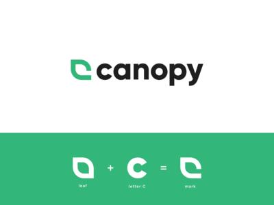 Canopy Logo and Mark brand leaf logo dispensary cannabis logo cannabis logo canopy c c logo marijuana marijuana logo