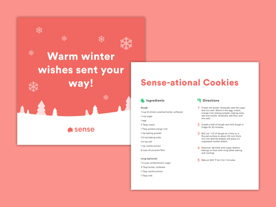 Sense-ational cookie recipe card sense cookies recipe card recipe ingredients