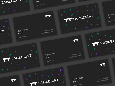 Tablelist business cards