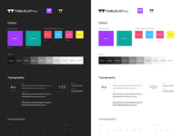 TablelistPro styleguide dark and light UI