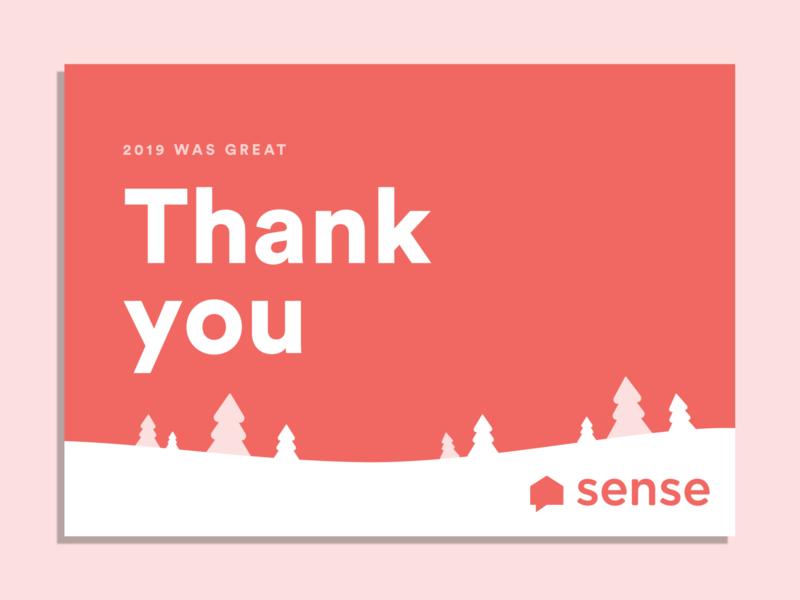 Thanks from Sense 2019 sense note card thank you card thank you