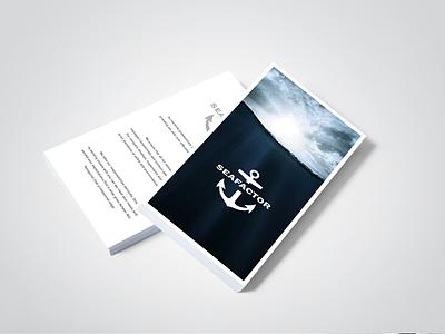 Sea factor branding corporate identity packaging print design web interface design websites buissnes card