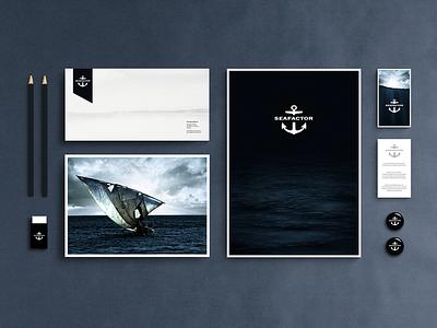 Sea factor branding corporate identity packaging print design web interface design websites