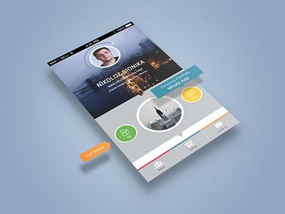 Portfolio UI ui design app design iphone iphone c5 color colorful web design