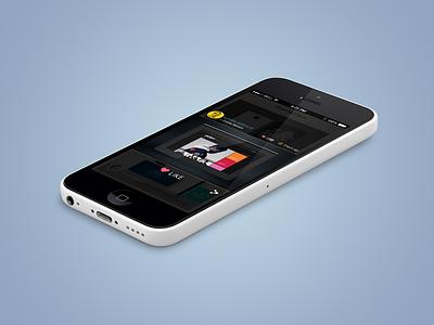Portfolio UI web design colorful color iphone c5 iphone app design ui design