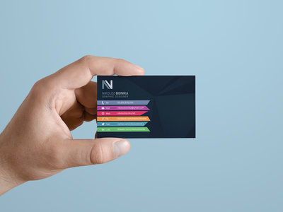 Personal Card business card card colorful color