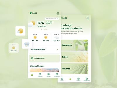 Sementes Roos APP visual user interface app user experience ux ui