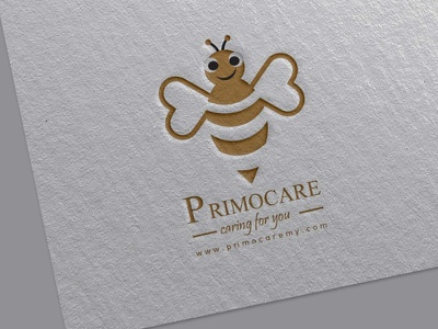 Bee logo icon typography ui business flyer illustration branding photoshop