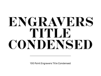 Engravers Title Condensed