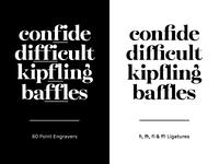 fi, ffi, fl & ffl Ligatures