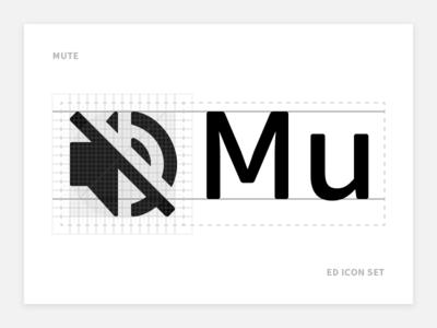 Mute - Ed Icon Set