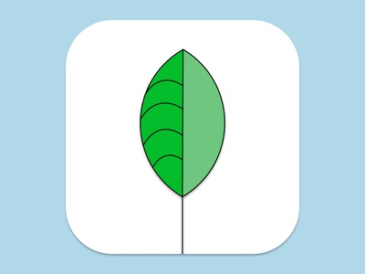 Daily UI Challenge Day Five leaf planet app icon digital dailyui design ux ui