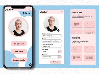 Daily UI Challenge Day Six userprofile skincare dailyuichallenge design ux ui