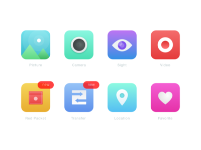 Icon Design For Chat and Pay