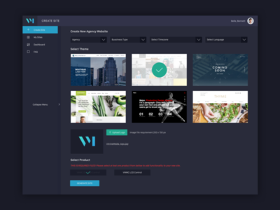 Dashboard For Multisite