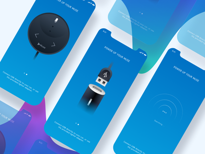 Iphone x Muse App music device for car swipe device x iphone 11 ios illustrations icons car gradient music blue