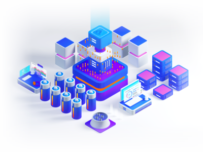 Crypto 3D Isometric Exploration on Cinema 4D