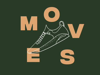 Moves sneaker wellness fitness design minimal illustration branding