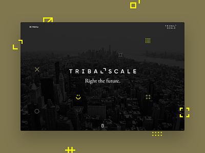 TribalScale Rebrand Landing Page re-design web branding