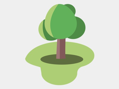 simple big tree vector simple design artwork artist vector illustration
