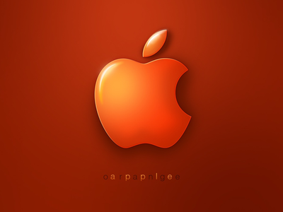 Orange Apple glossy timepass logo illustration orange apple