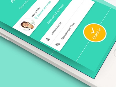 iPhone app for Medical Clinic  online booking application checkin doctor medical design uiux iphone app