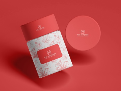 Free Round Packaging Paper Tube Box Mockup Template creative graphics design freebies free mix template mockup template free mockup mockups mockup paper tube mockup box mockup packaging mockup packaging design packaging