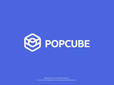 Popcube Modern Logo Design modern logo minimalist logo ui vector minimal logofolio logodesigner logo design graphicdesign freelancer logo graphic design logo design creative logo business logo branding brand identity brand guidelines brand guide behance