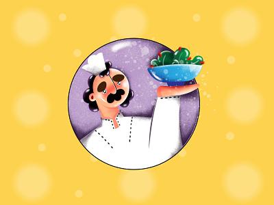 Menu line art flat illustration visual design cooking cook digital illustration illustration artist creative characterdesign set kit art