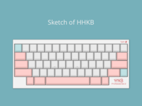 HHKB keyboard exercise sketch