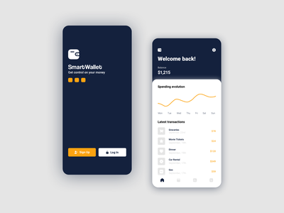 SmartWallet - Personal Finance App ux ui sketch ios design app