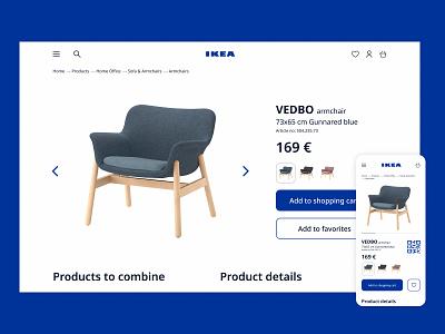 Ikea Design Concept shopping app webdesign qrcode ui armchair shopping e-commerce ikea website app ui design dailyuichallenge daily ui dailyui daily 100 challenge