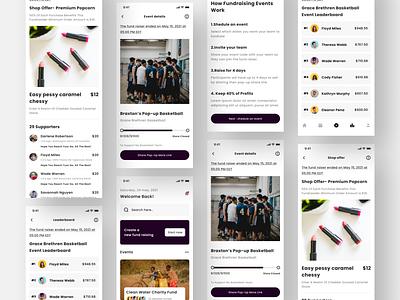 Fundraising app ui apple tools mockup fundraisings fundraiser wireframe design graphic design ios ui mobile app ui figma app adobe xd