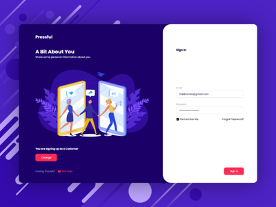 Sign In Page Design (Adobe XD) sign in form sign in page sign in ui sign in web app dashboard uiux adobe xd web web design user experience ux user interface ui