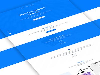 Journey Landing Page web design landing page single landing page free psd uiux simple uix web wordpress