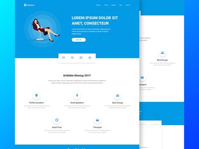 Event Landing Page web web design user interface product landing page wordpress freebie psd landing page